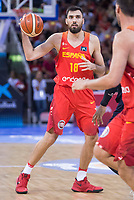 Spain's Pierre Oriola during friendly match for the preparation for Eurobasket 2017 between Spain and Venezuela at Madrid Arena in Madrid, Spain August 15, 2017. (ALTERPHOTOS/Borja B.Hojas)