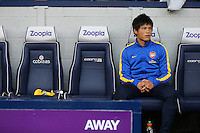 Ryo Miyaichi of Arsenal on the bench at The Hawthorns, 6th October Arsenal versus West Bromwich Albion