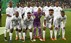 Cape Town-180519 Free State Stars  starting line up at at Cape Town stadium  where the Nedbank final is hosted .photograph:Phando Jikelo/African News Agency/ANA