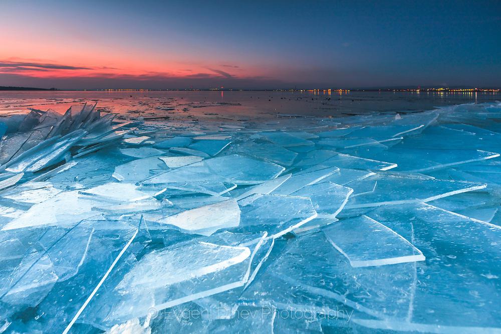 Slices of ice in Vaya Lake