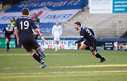 Falkirk's Mark Millar cele scoring their fourth goal.<br /> Raith Rovers 2 v 4 Falkirk, Scottish Championship game today at Starks Park.<br /> © Michael Schofield.