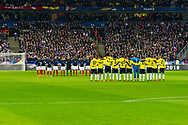 France and Colombia before the test match during the International Friendly Game football match between France and Colombia on march 23, 2018 at Stade de France in Saint-Denis, France - Photo Pierre Charlier / ProSportsImages / DPPI