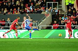 Jamie Murphy of Brighton & Hove Albion scores to make it 2-0 - Mandatory by-line: Dougie Allward/JMP - 05/11/2016 - FOOTBALL - Ashton Gate - Bristol, England - Bristol City v Brighton and Hove Albion - Sky Bet Championship