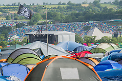 The Pyramid and Other Stages. The 2015 Glastonbury Festival, Worthy Farm, Glastonbury.