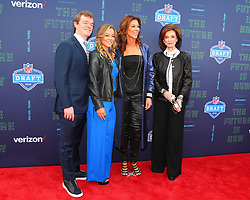 April 26, 2018 - Arlington, TX, U.S. - ARLINGTON, TX - APRIL 26:  Charlotte Jones Anderson pictured with her Mom Gene and children on the Red Carpet prior to the first round of the 2018 NFL Draft at AT&T Statium on April 26, 2018 at AT&T Stadium in Arlington Texas.  (Photo by Rich Graessle/Icon Sportswire) (Credit Image: © Rich Graessle/Icon SMI via ZUMA Press)