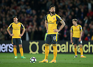 Arsenal's Olivier Giroud looks on dejected after going 2-0 down during the Premier League match at Selhurst Park Stadium, London. Picture date: April 10th, 2017. Pic credit should read: David Klein/Sportimage