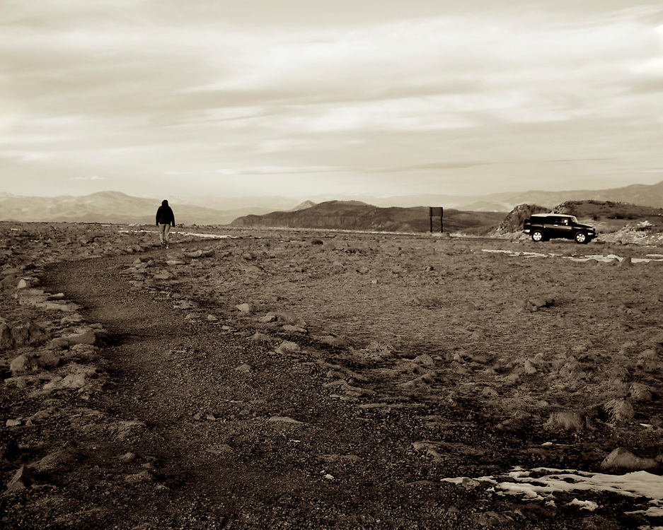 In the mountains above Brianhead, Utah we found this remote and desolate road to the clouds.