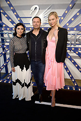 April 12, 2018 - New York, NY, USA - April 12, 2018  New York City..Morena Baccarin, Swarovski Consumer Goods Business CEO Robert Buchbauer, and Karlie Kloss attending Swarovski Times Square store party celebration at Hudson Mercantileon April 12, 2018 in New York City. (Credit Image: © Kristin Callahan/Ace Pictures via ZUMA Press)