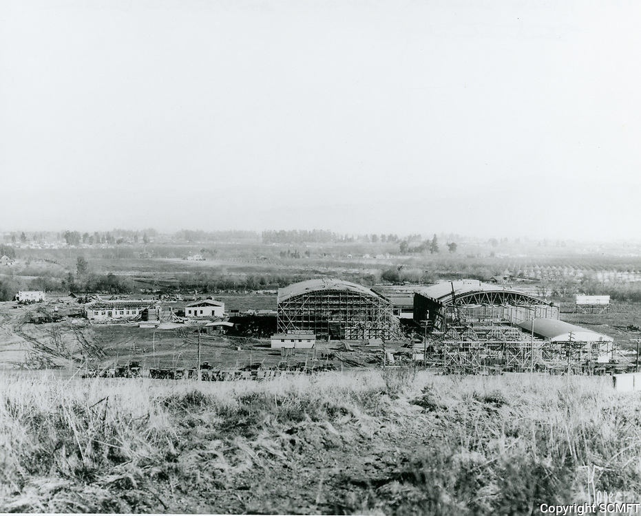 1927 Mack Sennett Studio under construction in Studio City, CA