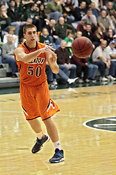 01 March 2014:  Nate Haynes during an NCAA mens division 3 CCIW  Championship basketball game between the Wheaton Thunder and the Illinois Wesleyan Titans in Shirk Center, Bloomington IL