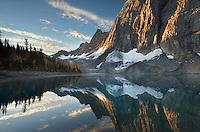 Sunrise on The Rockwall and Floe Lake, Kootenay National Park British Columbia
