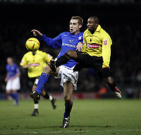 James Scowcroft and Jermaine Darlington.<br /> Ipswich Town v Watford, Coca-Cola Championship. 22/01/05. Picture by Barry Bland