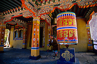 Prayer wheels at the Ta Dzong (National Museum of Bhutan), Paro, Bhutan