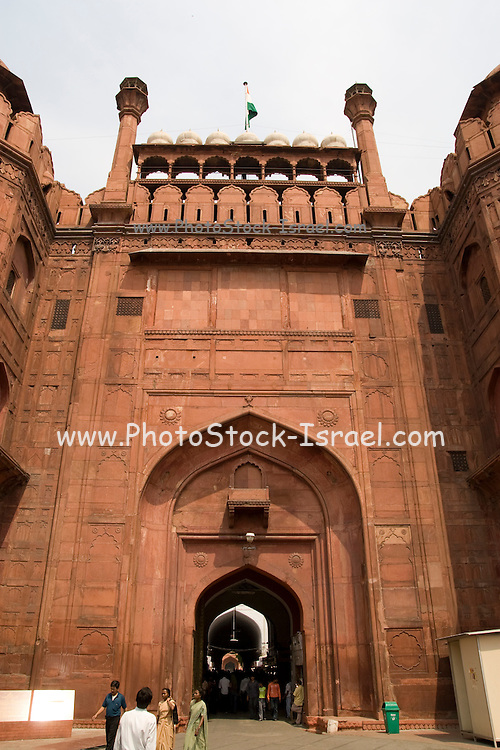 India, Delhi, The Red Fort Lahore Gate,