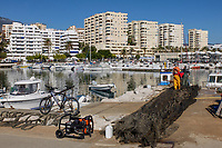 Estepona, Malaga Province, Spain, Espana, port, harbour, January, 2018, 201801164188<br />