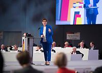 DEU, Deutschland, Germany, Leipzig, 22.11.2019: CDU-Chefin Annegret Kramp-Karrenbauer beim Bundesparteitag der CDU in der Messe Leipzig.