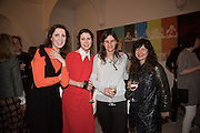 STEFANIA PRAMMA; VALERIA NAPOLEONE; CORNELIA GRASSI; FRANCES STARK, Stefania Pramma launched her handbag brand PRAMMA  at the Kensington residence of her twin sister, art collector Valeria Napoleone.. London.  29 April 2015