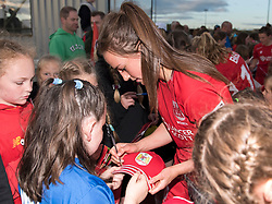 Chloe Arthur of Bristol City Women signs autographs  - Mandatory by-line: Paul Knight/JMP - 20/05/2017 - FOOTBALL - Stoke Gifford Stadium - Bristol, England - Bristol City Women v Liverpool Ladies - FA Women's Super League Spring Series