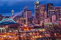 CenturyLink Field & Downtown Seattle (Evening)