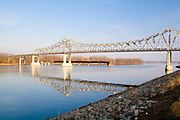 Minnesota USA, A bridge over the Mississippi river in Red Wing