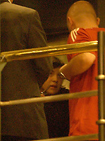 19/04/04 - DIEGO MARADONA WAS INTERNED AT HOSPITAL - Buenos Aires - Argentina. <br /> The ex Argentinean football player was interned at hospital yestarday night.<br /> Here YANINA MARADONA inside the clinic.<br /> Foto: Digitalsport/Argenpress<br /> NORWAY ONLY
