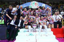 03-02-2019 ITA: Igor Gorgonzola Novara - Pomi Casalmaggiore, Verona <br /> Finali Samsung Coppa Italia 2018-2019 Pallavolo Femminile / Team Novara win the Coppa Italia with Celeste Plak #4 of Novara<br /> <br /> *** Netherlands use only ***