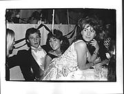Charles Stopford-Sackville, Ghislaine Maxwell, Julia Verdin, Chelsea Arts Ball. Royal Albert Hall. October 1985.