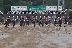 May 4, 2019 - Louisville, KY, U.S. - LOUISVILLE, KY - MAY 04: The field breaks out of the starting gate during the 145th running of the Kentucky Derby at Churchill Downs on May 4th, 2019 in Louisville, Kentucky. (Photo by Ian Johnson/Icon Sportswire) (Credit Image: © Ian Johnson/Icon SMI via ZUMA Press)