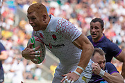 Twickenham, United Kingdom 25th May 2019 HSBC London Sevens, James RODWELL,  running in for a try during the England vs Scotland match, played at  the  RFU Stadium, Twickenham, England, <br /> © Peter SPURRIER: Intersport Images<br /> <br /> 15:27:03 25.05.19