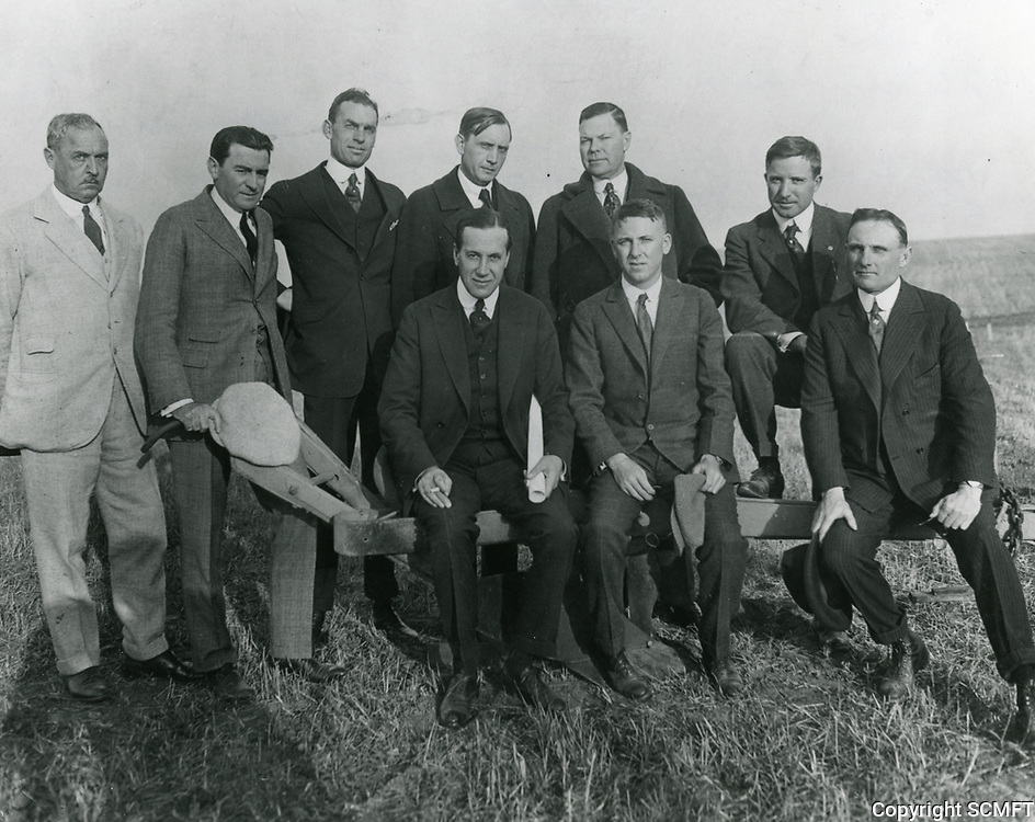 1920 Some founding members of Wilshire Country Club including C.E. Toberman (standing 4th from left)