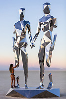 BROKEN BUT TOGETHER by Michael Benisty<br /> MIRROR POLISHED STAINLESS STEEL<br /> <br /> 21 X 12 X 10 FT<br /> <br /> 6.5 X 3.6 X 3 M<br /> <br /> 2019