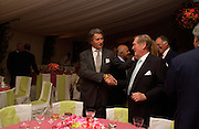 Arnaud Bamberger and the Earl of Suffolk. Cartier dinner after thecharity preview of the Chelsea Flower show. Chelsea Physic Garden. 23 May 2005. ONE TIME USE ONLY - DO NOT ARCHIVE  © Copyright Photograph by Dafydd Jones 66 Stockwell Park Rd. London SW9 0DA Tel 020 7733 0108 www.dafjones.com