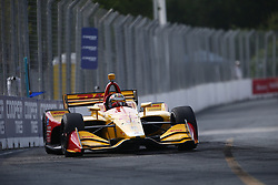 July 14, 2018 - Toronto, Ontario, Canada - RYAN HUNTER-REAY (28) of the United States takes to the track to practice for the Honda Indy Toronto at Streets of Toronto in Toronto, Ontario. (Credit Image: © Justin R. Noe Asp Inc/ASP via ZUMA Wire)