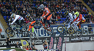BMX World Cup Finals at  at the Manchester Arena, Manchester, United Kingdom on 19 April 2015. Photo by Charlotte Graham.