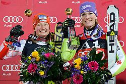 11-01-2011 SKIEN: FIS WORLD CUP: FLACHAU<br /> FIS World Cup Ski Alpin, Ladies, Slalom /  v.l. Tanja Poutiainen (FIN), Maria Riesch (GER) **NETHERLANDS ONLY**<br /> ©2011-WWW.FOTOHOOGENDOORN.NL /  EXPA-S. Zangrando