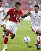 Fotball<br /> Asian Cup / Asia Cup<br /> 10.07.2007<br /> Foto: imago/Digitalsport<br /> NORWAY ONLY<br /> <br /> Indonesia v Bahrain<br /> Ricardo Salampessy (Indonesien, li.) gegen Sayed Mahmood Jalal (Bahrain)