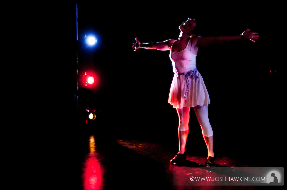 """Chicago Tap Theatre's """"Tidings of Tap"""" performed at UIC Theatre in Chicago, IL on Dec 9-11, 2011..""""Snowflake Suite"""" choreography by Mark Yonally, pictured dancer(s): Kirsten Williams"""