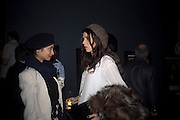 Hannah Bhuiyo and Lara Bohinc, Unveiling of the Vivienne Westwood Opus. Hosted by Vivienne Westwood and Karl Fowler of Kraken Opus. Serpentine Gallery. London. 12 February 2008.  *** Local Caption *** -DO NOT ARCHIVE-© Copyright Photograph by Dafydd Jones. 248 Clapham Rd. London SW9 0PZ. Tel 0207 820 0771. www.dafjones.com.