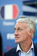 France head coach Didier Deschamps during anthems before the 2018 FIFA World Cup Russia, Semi Final football match between France and Belgium on July 10, 2018 at Saint Petersburg Stadium in Saint Petersburg, Russia - Photo Thiago Bernardes / FramePhoto / ProSportsImages / DPPI
