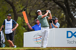 March 24, 2018 - Austin, TX, U.S. - AUSTIN, TX - MARCH 24: Alex Noren watches his tee shot during the quarterfinals of the WGC-Dell Technologies Match Play on March 24, 2018 at Austin Country Club in Austin, TX. (Photo by Daniel Dunn/Icon Sportswire) (Credit Image: © Daniel Dunn/Icon SMI via ZUMA Press)
