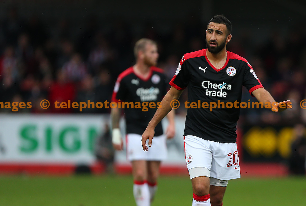 Crawley's Aryan Tajbakhsh seen on his league debut during the Sky Bet League 2 match between Cheltenham Town and Crawley Town at the Abbey Business Stadium in Cheltenham. October 15, 2016.<br /> James Boardman / Telephoto Images<br /> +44 7967 642437