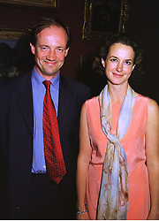 MR & MRS DESMOND SHAWE-TAYLOR he is the Director of the Dulwich Picture Gallery the oldest Gallery in Britain, at an exhibition in London on 3rd September 1998.MJO 57