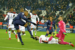January 19, 2019 - Paris, Ile de France, France - Paris SG Forward KYLIAN MBAPPE scored the third goal during the French championship League 1 Conforama match Paris SG against EA Guingamp at the Parc des Princes Stadium in Paris - France..Paris SG won 9-0 (Credit Image: © Pierre Stevenin/ZUMA Wire)