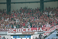 Supporters of FC Bayern Munchen during the match of Champions League between Real Madrid and FC Bayern Munchen at Santiago Bernabeu Stadium  in Madrid, Spain. April 18, 2017. (ALTERPHOTOS)