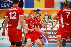 20170524 NED: 2018 FIVB Volleyball World Championship qualification, Koog aan de Zaan<br />Peter Wohlfahrstatter (3) of Austria, Maximilian Thaller (13) of Austria<br />©2017-FotoHoogendoorn.nl / Pim Waslander