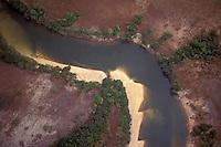 Vista aerea del rio Cinaruco, Parque Nacional Cinaruco-Capanaparo, Apure, Venezuela