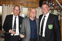 TEXEL - De Cocksdorp - Willem Schouten,  Eric Korver  en Ger Laan.   Golfbaan De Texelse. COPYRIGHT KOEN SUYK