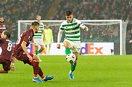 Mohamed Elyounoussi during the Europa League match between Celtic and CFR Cluj at Celtic Park, Glasgow, Scotland on 3 October 2019.