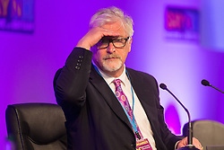 © Licensed to London News Pictures . 25/09/2015 . Doncaster , UK . STEVE CROWTHER at the 2015 UKIP Party Conference at Doncaster Racecourse , this morning (Friday 25th September 2015) . Photo credit : Joel Goodman/LNP