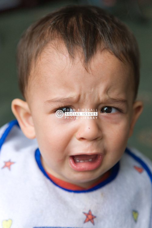 Portrait of a baby boy crying,